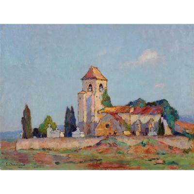 Emile Chaumont (1877-1927) Eglise de Cabans au Buisson de Cadouin Dordogne Périgord
