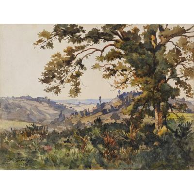 Alexis Guigné (1839-1920) Environs de Sarlat Périgord Dordogne