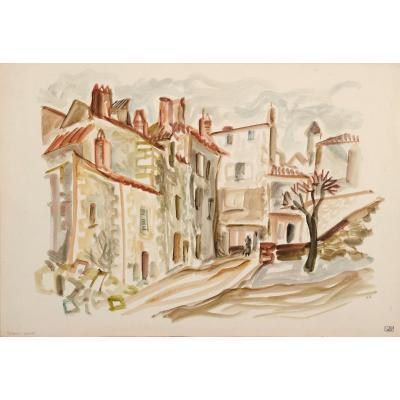 Jean Cluseau-Lanauve (1914-1997) Les Rues Neuves à Périgueux Dordogne