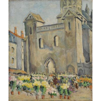 Georges Burger (1902-1983) All Saints' Day On The Clautre In Périgueux Dordogne