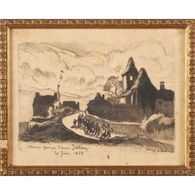 Lucien De Maleville (1881-1964) Birth Announcement Périgord Dordogne