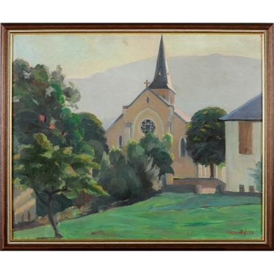 Raymond Dufrêne (1887-1973) Eglise de Gruffy Haute-Savoie Annecy