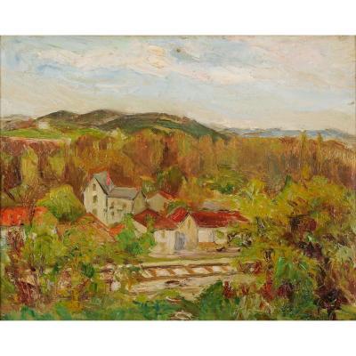 André Prugent (1882-1965) Chemin de fer Périgueux Dordogne Périgord