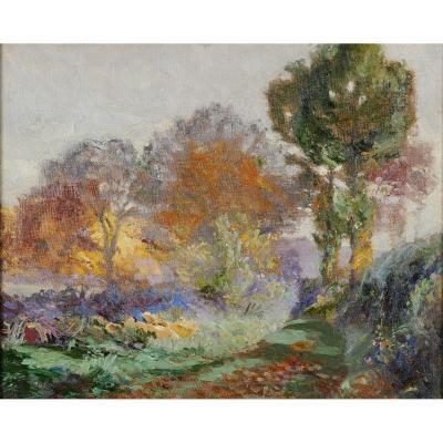 Jean-Louis Daniel (1861-1929) Chemin en Périgord Dordogne
