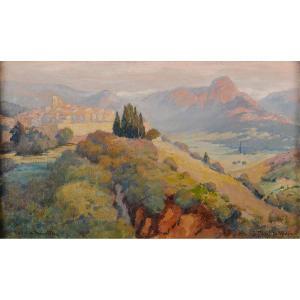 Lucien de Maleville (1881-1964) Saint Paul de Vence en été Provence Alpes-Maritimes