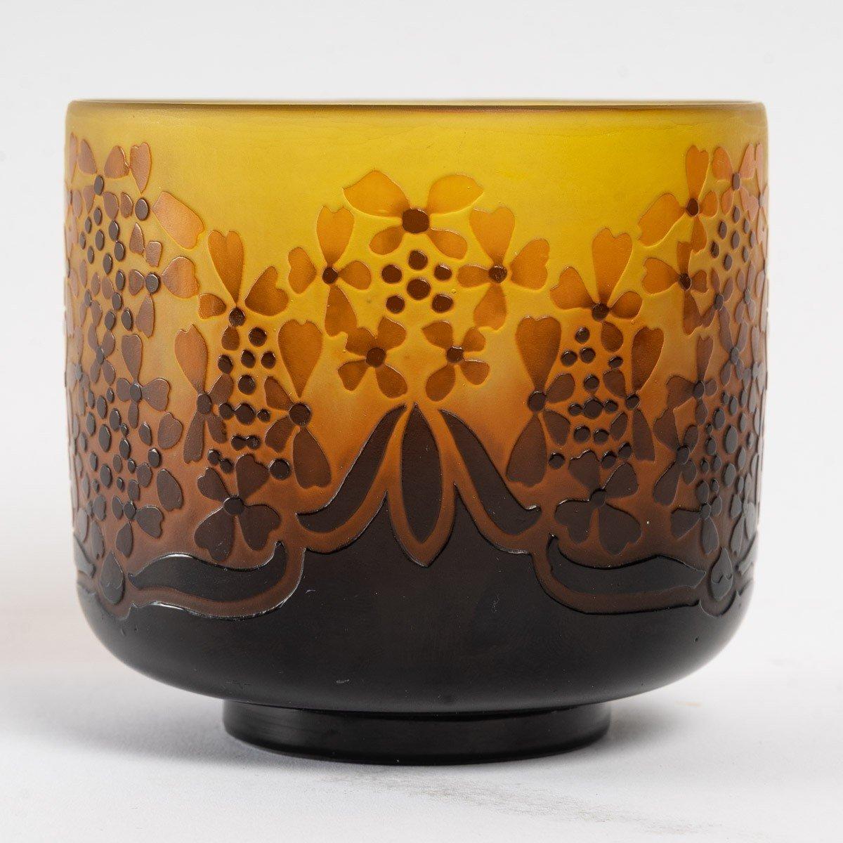 D'Argental, Vase Aux Fleurs Stylisées-photo-2