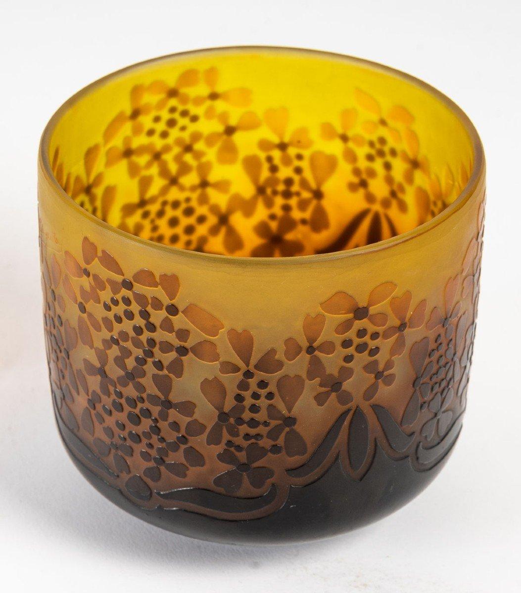 D'Argental, Vase Aux Fleurs Stylisées-photo-3