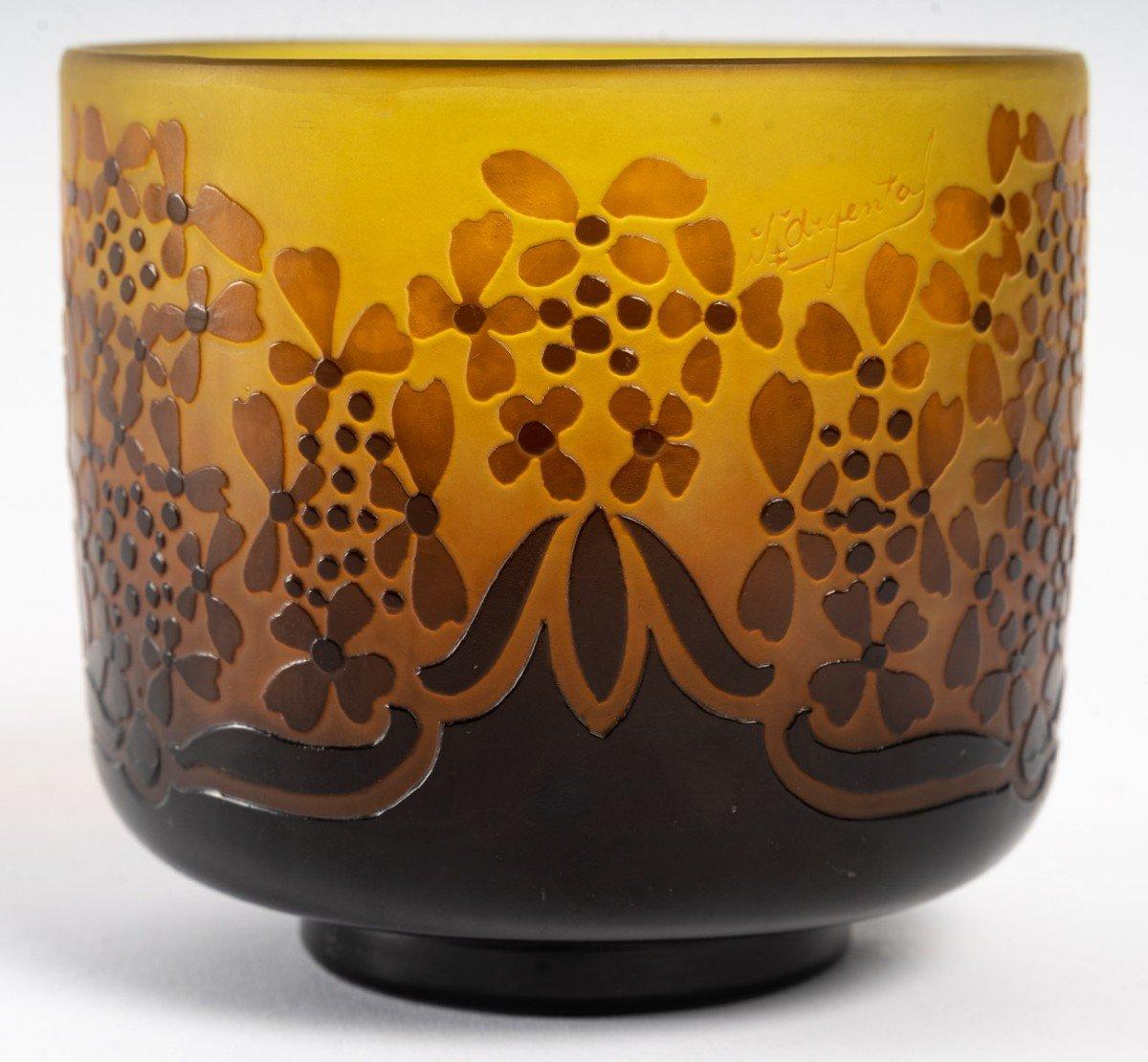 D'Argental, Vase Aux Fleurs Stylisées-photo-4