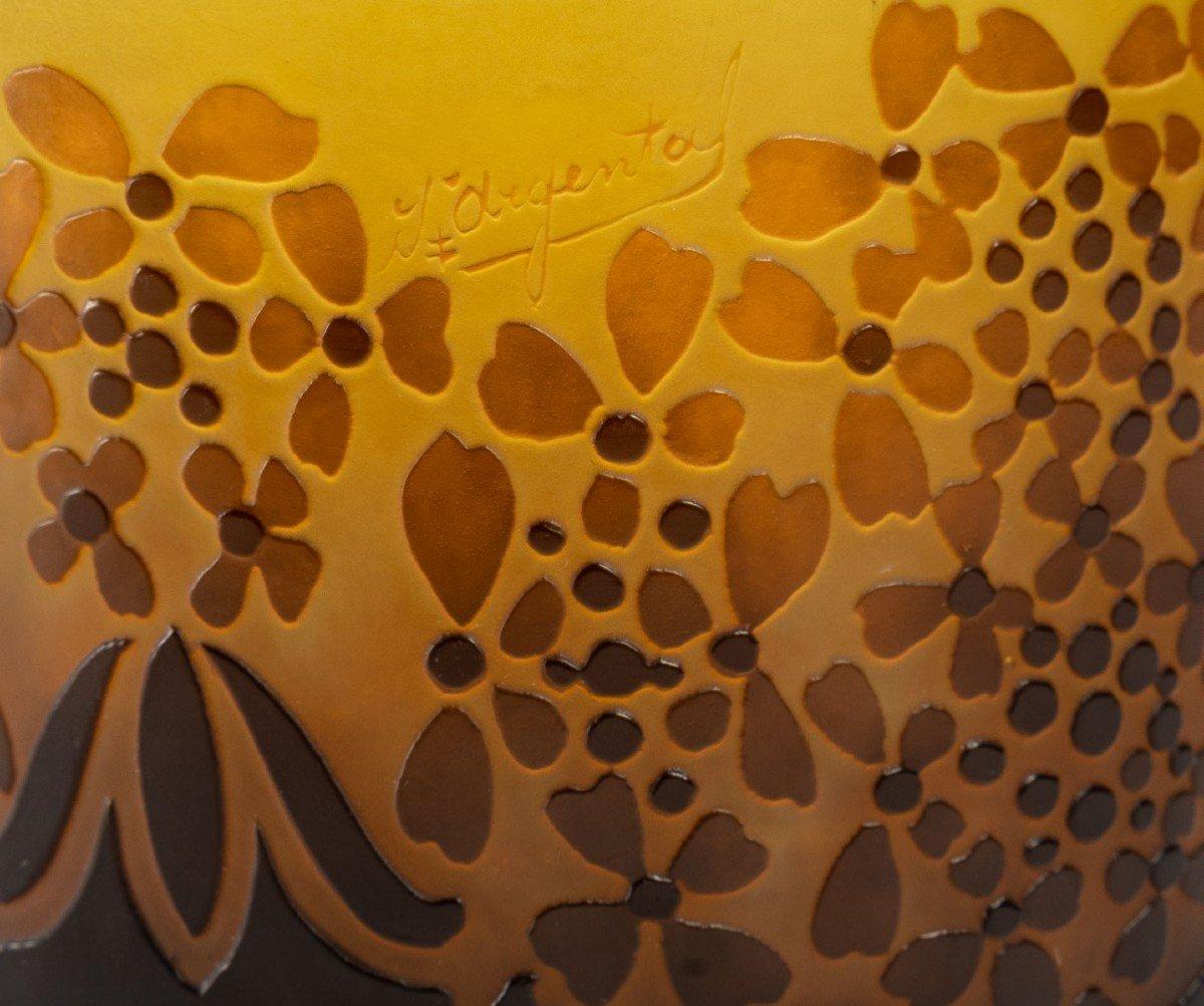 D'Argental, Vase Aux Fleurs Stylisées-photo-1