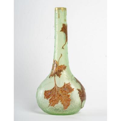 Vase Montjoye Aux Feuilles d'érable