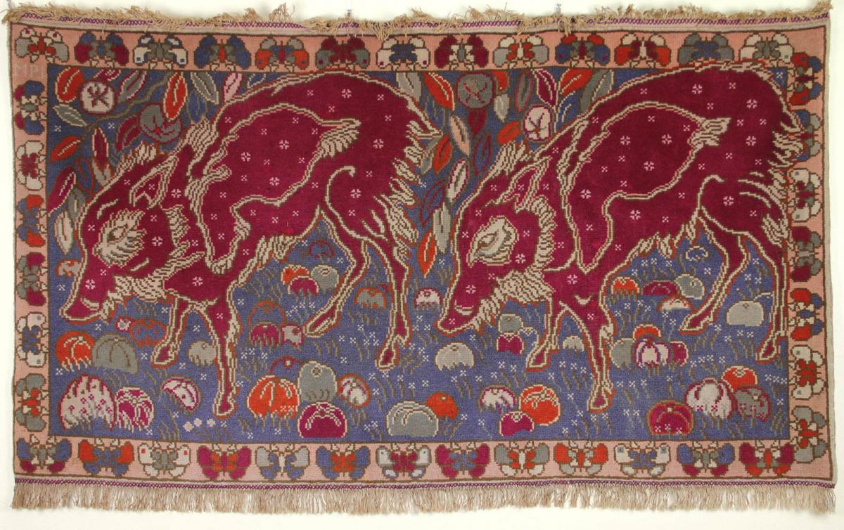 """Georges Manzana-pissarro: Tapestry """"the Two Warthogs"""""""