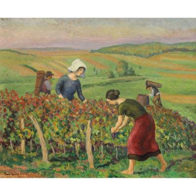 Paul-emile Colin (1867-1949) : Les Vendanges Lorraine
