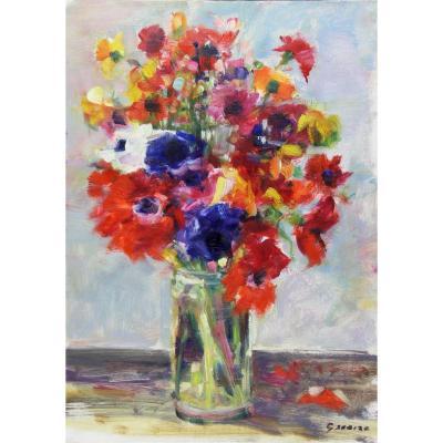 Gaston SEBIRE : Bouquet Champêtre