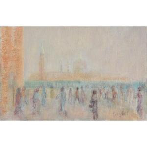 Lyne Seybel : Promeneurs à Venise