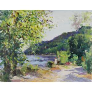 Gaston Sebire : La Seine à Villequier