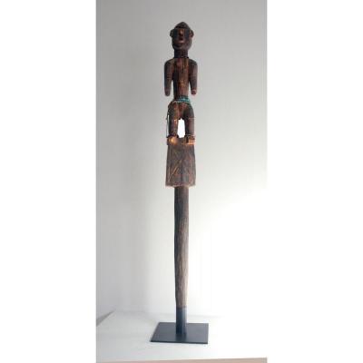Rare Baton d'Autorité Sceptre Bobo Ancien Soclée Afrique Burkina Faso