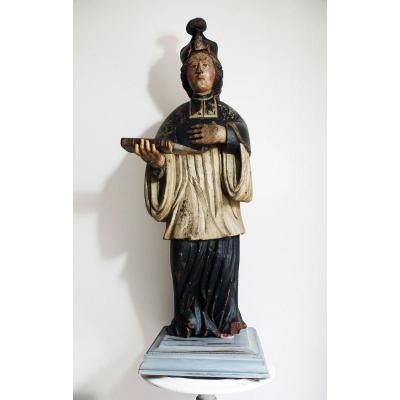 St Yves Patron Des Avocats Notaire magistrat Bretagne Breton Statue Bois XVII Siecle