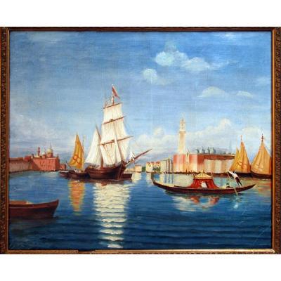 Venise La Merveilleuse Valrely Huile Sur Toile