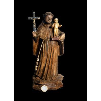 St Antoine Enfant Jesus 18 Eme Bois Polychrome