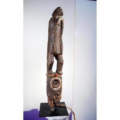 Poteau Chamba Mumuye Nigeria Ancien Collection Aguirregabiria Fétiche