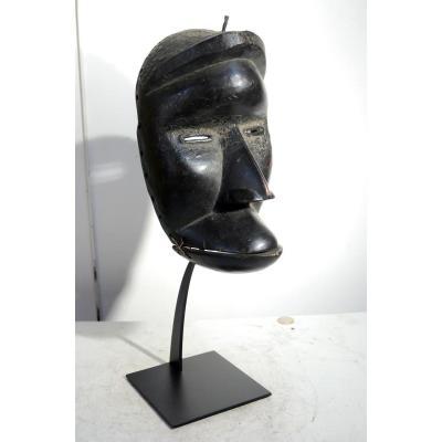Masque Dan/kran Côte d'Ivoire à Mâchoire Articulée Ancien Authentique Dansé