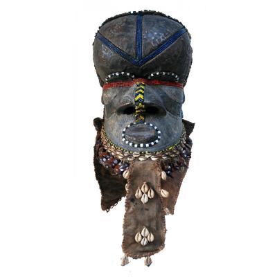 Masque heaume royal Bwoom  KUBA Rép. Démocratique du Congo