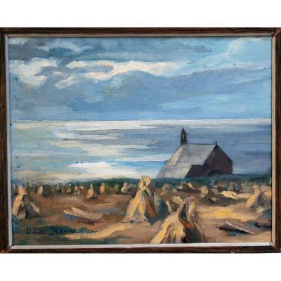 Claude Jeanne Bord De Mer Brittany Painter Breton Marine Impressionist