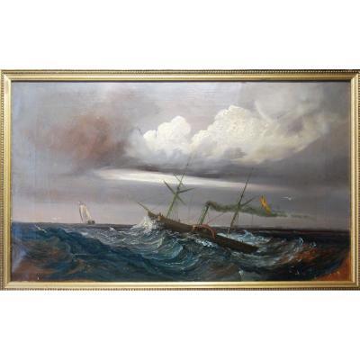 Marine: Le Bateau Vapeur Late 19 Eme Century