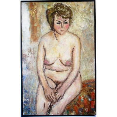 Georges Rocher 1927 1984 Nu Cubiste Moderniste Vintage