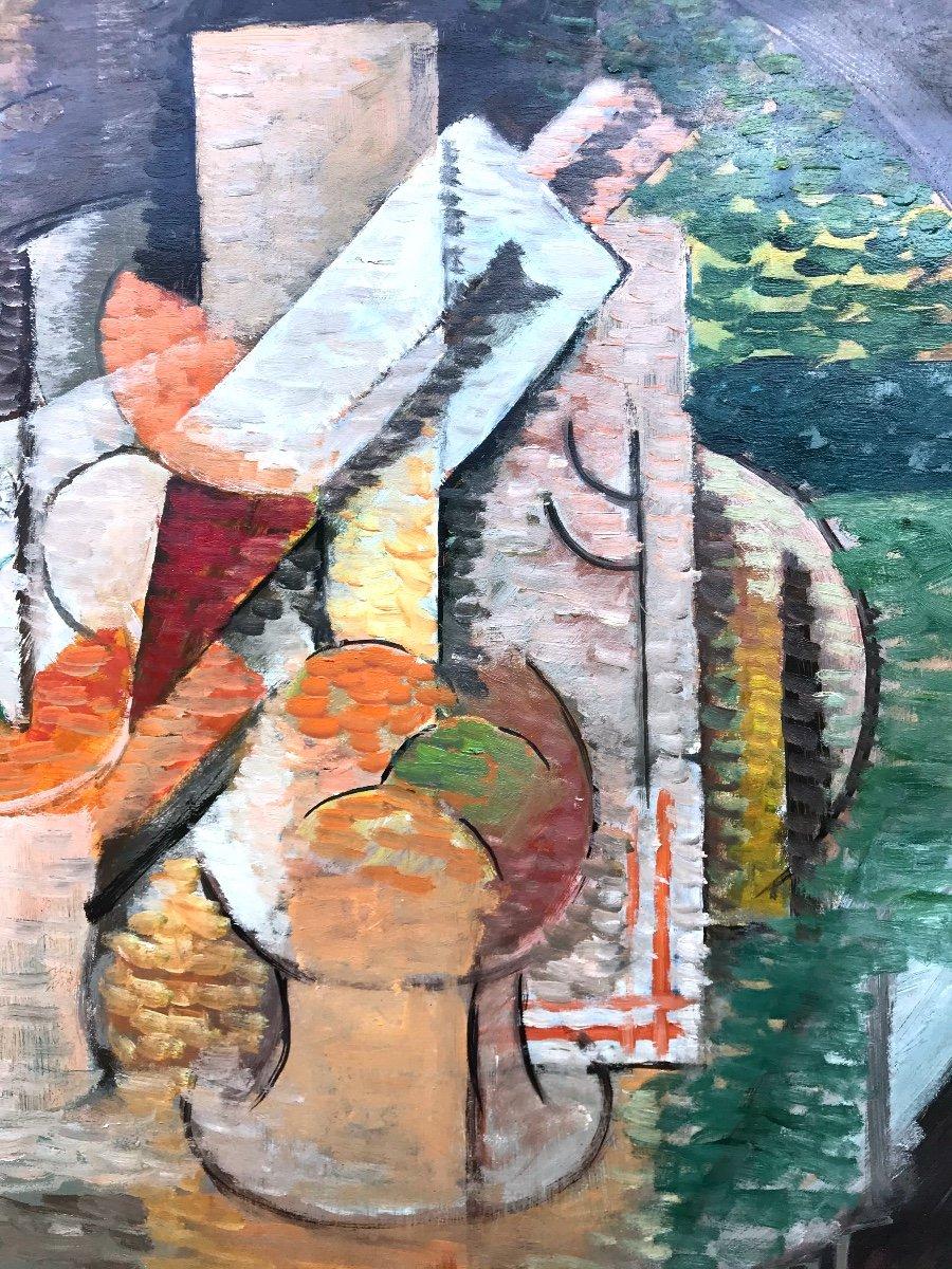 Elisabeth Ronget (1893-1972) Nature Morte Cubiste Année 1930-photo-2