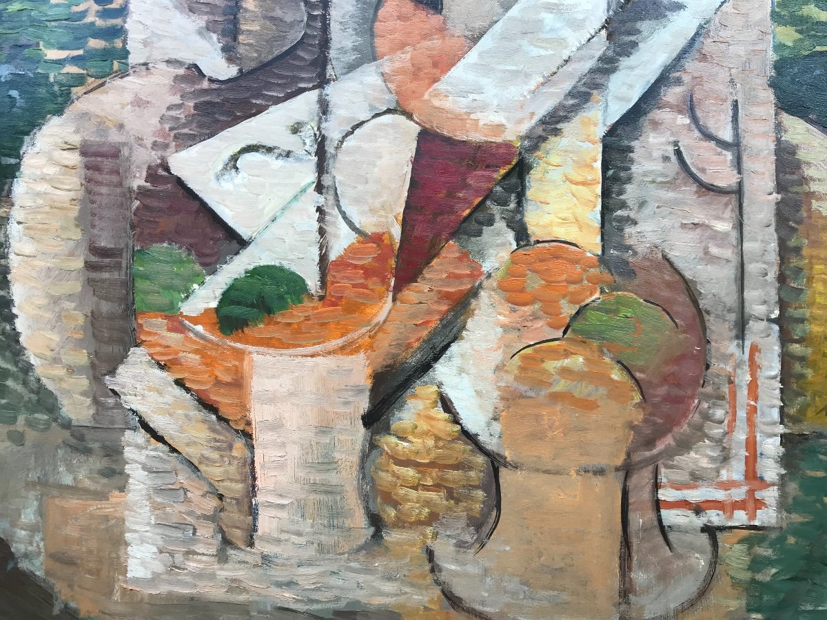 Elisabeth Ronget (1893-1972) Nature Morte Cubiste Année 1930-photo-4