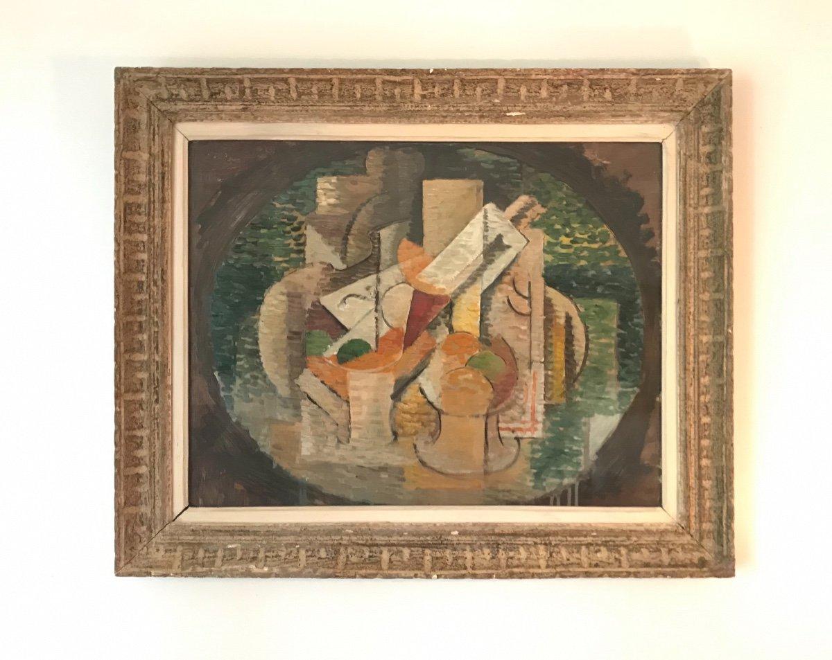 Elisabeth Ronget (1893-1972) Nature Morte Cubiste Année 1930