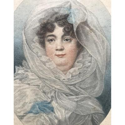 Jean-Baptiste ISABEY (1767-1855) Portrait De Mme Dugazon  XVIII Siècle