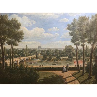 Vue Du Pont De Suresnes Et Le Bois De Boulogne En 1873 Par Baliat