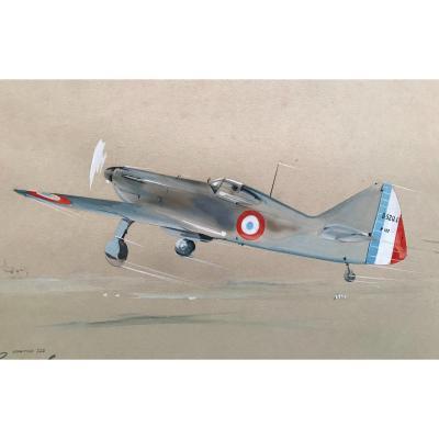 Boucheron (xx Siècle ) Avion Français Dewoitine D.520 Gouache 1942