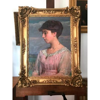 Pierre Blanc (1872-1946) Deux  Portraits De Jules Fick Et Charlotte Klees Kuief, Luxembourg