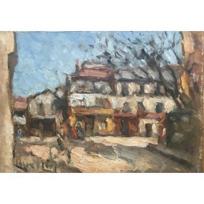 Lazare Levy (1867-1933) Orientalist. Paris 19th Rue Compans Early 20th Century