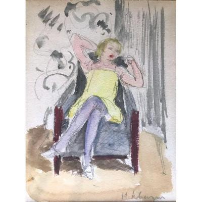 Henri Lebasque (1865-1937) Scène d'Intérieur Femme Assise Début XX Siècle