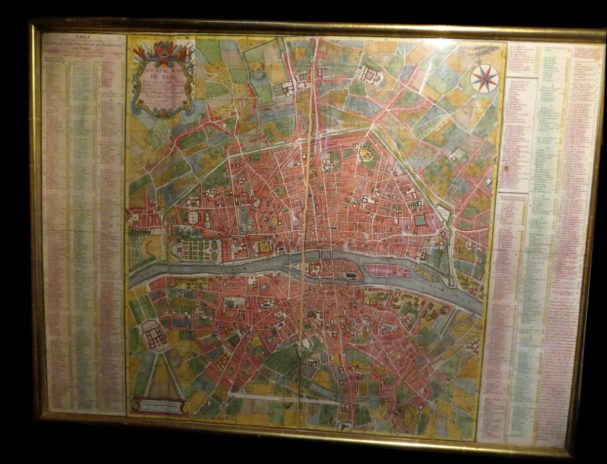 Chereau (françois) / Coquart & Delahaye - New Paris Plan. 1754.