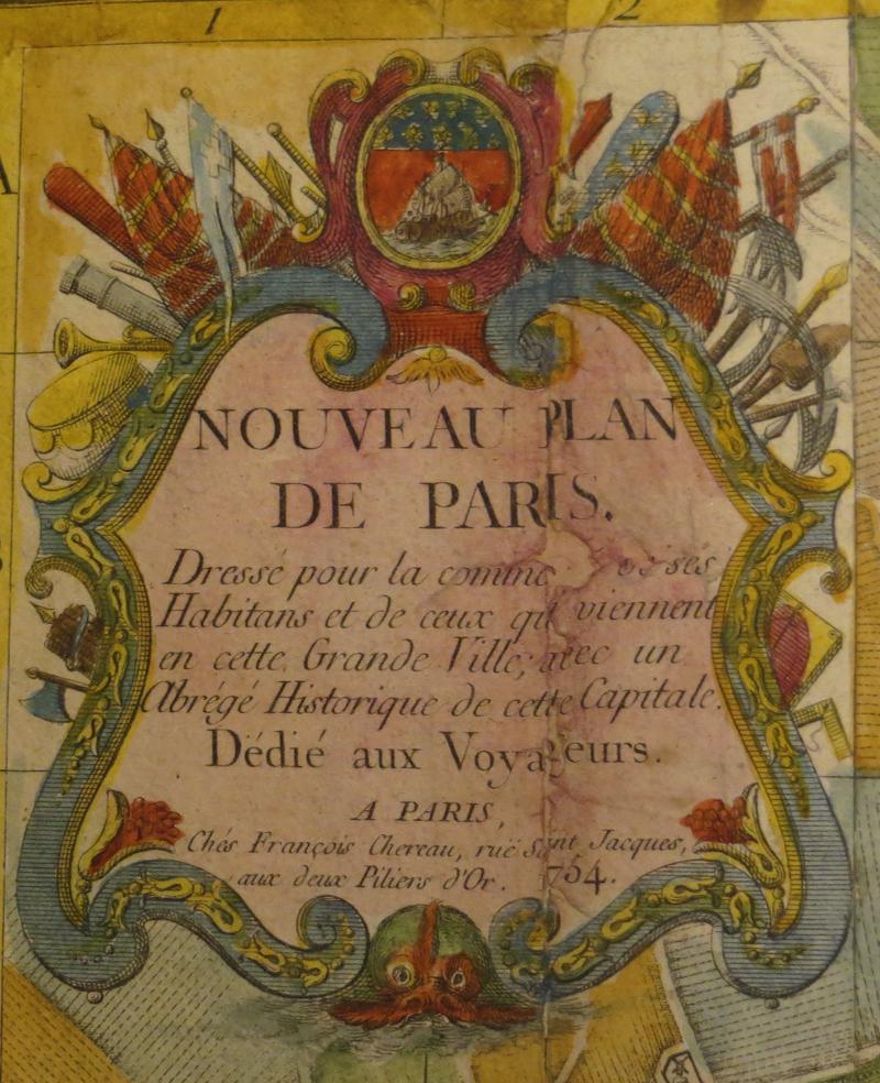 Chereau (françois) / Coquart & Delahaye - Nouveau Plan De Paris. 1754.-photo-2