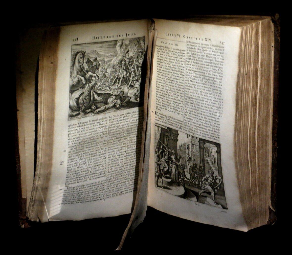 Judaisme Judaica] Josephe (flavius) - Histoire Des Juifs / Antiquités Judaïques 2/2. 1681 Folio-photo-2