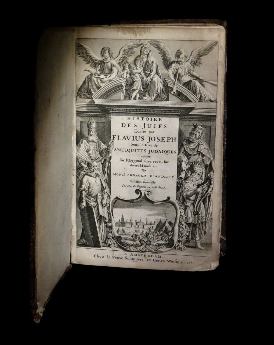 Judaisme Judaica] Josephe (flavius) - Histoire Des Juifs / Antiquités Judaïques 2/2. 1681 Folio-photo-3