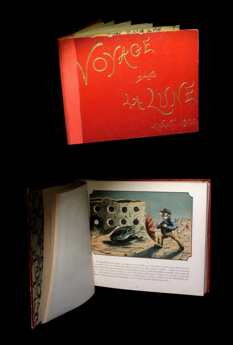 [science Fiction] Ville d'Avray - Voyage In The Moon Before 1900. 50 Plates.
