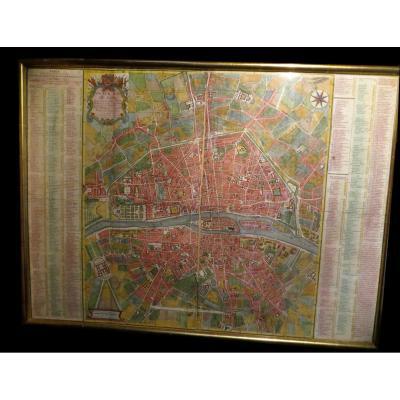 Chereau (françois) / Coquart & Delahaye - Nouveau Plan De Paris. 1754.