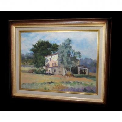 [post-impressionism Provence] Schmerber (alice) - [oil On Canvas, Signed].