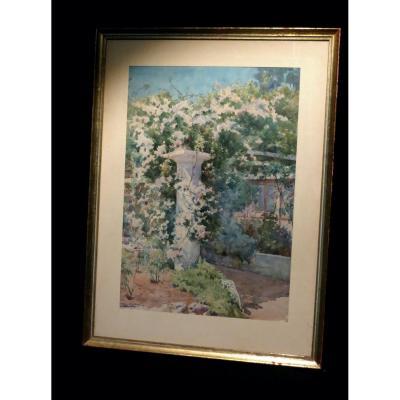 [italia Napoli Capri] Lovatti (augusto) - Watercolor On Paper, Signed.