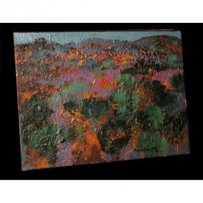 [expressionism] Gaillardot (stone) - [oil On Canvas, Signed].