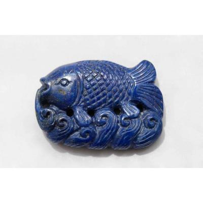 A Chinese Lapis Lazuli Pendant