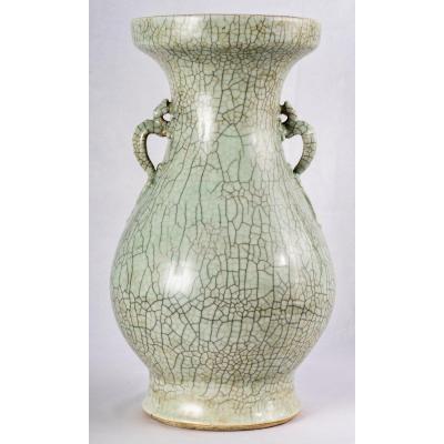 A Large Ge-type Glaze Vase, Yongzheng/qianlong Period
