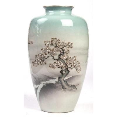 Musen Enameled Japanese Vase, Meiji Era